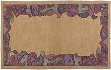 Generic Teppich Nepali Indien ca. 160 x 100 cm · Braun · handgeknüpft · Schurwolle · Modern · hochwertiger Teppich · 15409