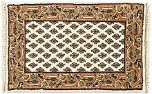 Generic Teppich Poshti Mir Indien ca. 60 x 40 cm · Beige · handgeknüpft · Schurwolle · Klassisch · hochwertiger Teppich · 16086