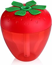Generic USB-Mini Portable Nebel Hersteller Luftbefeuchter , Erdbeere Form - Rot, 90 * 90 * 95mm