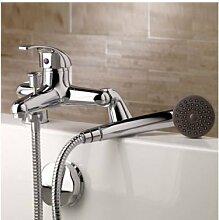 Generic Verchromter Einhebel Mischbatterie Badewanne Wasserhahn mit Handbrause Schlauch &