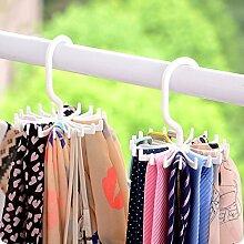 Generic Violett: hoomall drehbar Krawatte Rack verstellbar Herren Krawatte Kleiderbügel hält Gürtel Schal Halter Aufbewahrung Rack 20Haken 6Farben 2