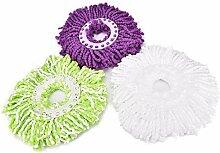 Generic Weiß: 360Grad Mikrofaser Mops Kopf bis Mop Home Werkzeuge Refill für Magic Einfache Spin drehbarer Super Wasser reinigen Staub Stoßdämpfender Tuch 1Stück