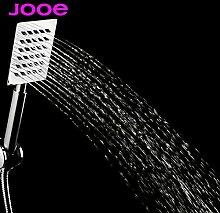 Generic Weiß: jooe Edelstahl Dusche Kopf Hand Held Wassereinsparung quadratisch Badewanne Dusche Köpfe Badezimmerzubehör chuveiro Begießen douchekop