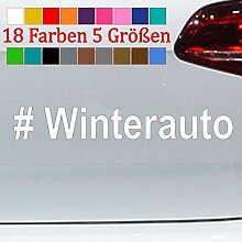 Generic #Winterauto Aufkleber Winterauto