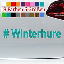Generic # Winterhure Aufkleber Winterauto
