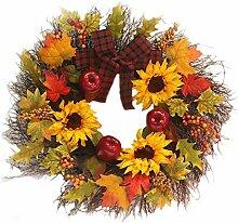 Generice 45Cm Halloween Herbstkranz Künstlicher