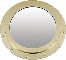 Générique Spiegel Bullauge nicht öffnen Messing Gold, gold, 30 x 30 x 1,7 cm