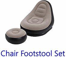 Generir PVC Aufblasbares Sofa Mit Fußstütze