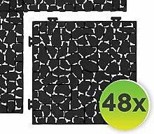 Generisch FairFox Garten Klickfliesen Black Stone