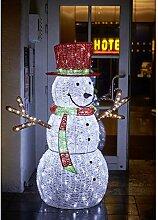 generisch LED Schneemann mit Hut 152 cm groß für