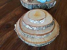 generisch Set Baumscheiben Holzscheiben Etagere