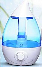 Genghuihui Luftbefeuchter, Home Office Schlafzimmer, Luftbefeuchter, Luftbefeuchter, Stummschaltung Klimaanlage Luftbefeuchter, Blau