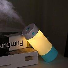Genghuihui Usb-Luftbefeuchter Luftbefeuchter Mute Home Office Desktop Nachttischlampe Luftbefeuchter, Rosa Blau