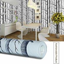 genialkiki 3D Vliestapete Birke Baum Entwurfs