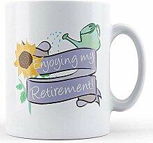 Genießen meines Ruhestands! - Bedruckte Tasse