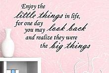 Genießen Sie die kleinen Dinge, die sie zu