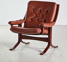 Genieteter Vintage Sessel von Ingmar Relling für