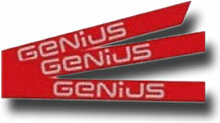 genius Kit Aufkleber genius Logo Stange simple