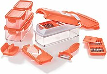 Genius Nicer Dicer Smart | 15 Teile | Neon-Orange