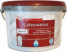 Genius Pro Wandfarbe Latexweiss Glänzend 5 Liter