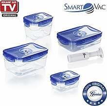 Genius SmartVac SV5000 Universal-Vakuum-Dose | 9 Teile | Bekannt aus TV | NEU
