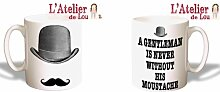 Gentleman Moustache Schnurrbart keramisch Mug Tasse Kaffeebecher - Originelle Geschenkidee - Spülmaschinenfes
