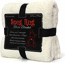 Genuine Snug Rug Luxury Decke Sherpa Werfen Warm Fleece Decke - Crème