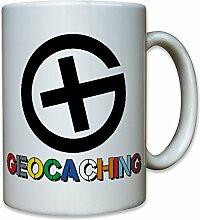 Geocaching GPS Schnitzeljagd elektronische Schatzsuche Geocache Geocacher Ausrüstung - Tasse Kaffee Becher #10394 T