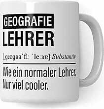 Geographielehrer Tasse, Geschenk für Geographie