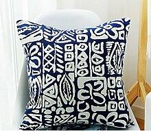 Geometric sofa pillow cushion cover,living room modern square pillow-B 45x45cm(18x18inch)VersionA