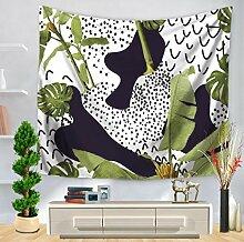 Geometrie grün Leaf Nähte indischen Wandteppich für Beach Werfen, F, 150130, Polyester, D, 150*130