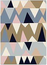Geometrie Home Teppiche 119,4x 160cm–memorecool Haustierhaus verschiedene Muster Kein Verblassen anti-slipping einfachen Stil Wohnzimmer Tee Tisch Teppiche, Pattern13, 47x63inch
