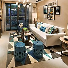 Geometrie Home Teppiche 119,4x 160cm–memorecool Haustierhaus verschiedene Muster Kein Verblassen anti-slipping einfachen Stil Wohnzimmer Tee Tisch Teppiche, Pattern20, 63x91inch