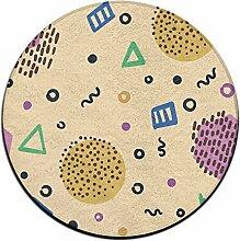 Geometrie Kreis Shaggy Teppich Runde Form für Schlafzimmer Wohnzimmer Teppich/Fußmatte/Anti-Rutsch