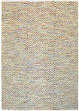 Geometrisch gemusterter Teppich in Bunt Webstoff