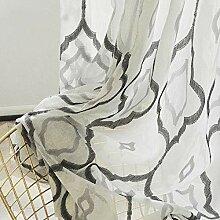 Geometrisch Schwarz und Weiß Jacquard Vorhang