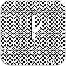 Geometrisch, Wanduhr Durchmesser 28cm mit weißen eckigen Zeigern und Ziffernblatt, Dekoartikel, Designuhr, Aluverbund sehr schön für Wohnzimmer, Kinderzimmer, Arbeitszimmer