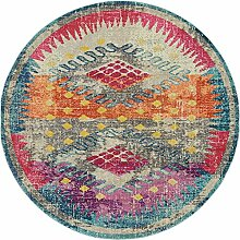 Geometrische Arte Bereich Teppich, multi, 8 x 8