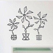 Geometrische Blume Wandkunst Aufkleber für