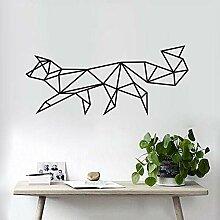 Geometrische Fox Wandaufkleber Für Wohnzimmer