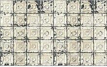 Geometrische geprägte Wandtapete Brooklyn Tins