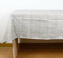 geometrische muster grau Tischdecke Leinen baumwolle Hotel Couchtisch Esstisch Geschirr Staub Tuch , B , 140*180cm