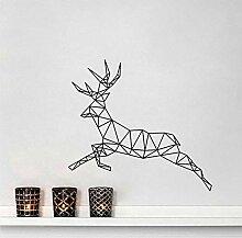 Geometrische Muster Lauf Deer Wandaufkleber Für