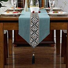 Geometrische Muster Stickerei Tischläufer,