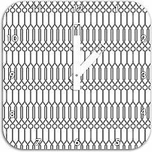Geometrische Muster, Wanduhr Durchmesser 28cm mit schwarzen eckigen Zeigern und Ziffernblatt, Dekoartikel, Designuhr, Aluverbund sehr schön für Wohnzimmer, Kinderzimmer, Arbeitszimmer