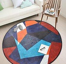 Geometrische Runde Schlafzimmer Küche Teppich Badezimmer Rutschfeste Matten , 2 , 60x60