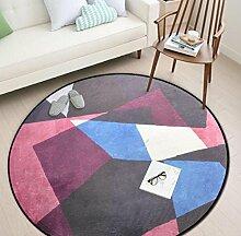 Geometrische Runde Schlafzimmer Küche Teppich Badezimmer Rutschfeste Matten , 4 , 120x120cm