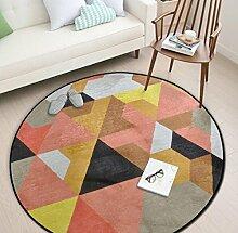 Geometrische Runde Schlafzimmer Küche Teppich Badezimmer Rutschfeste Matten, 5, 150x150cm