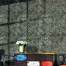 Geometrische Tapete Oriental Boden blau und