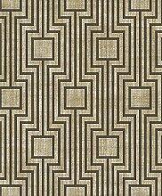 Geometrische Tapete Position schwarz und Boden